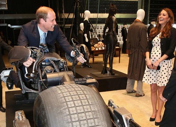 Prince William on Batbike