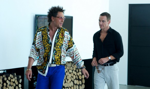 Michael Fassbender and Javier Bardem in The Counsellor