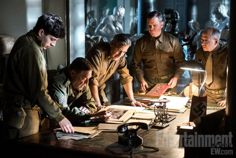 Sam-Epstein-John-Goodman-George-Clooney-Matt-Damon-and-Bob-Balaban-in-The-Monuments-Men