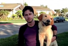 Zach-Braff-and-Rowdy-on-set-of-Wish-I-Was-Here