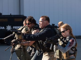 Joe-Manganiello-Arnold-Schwarzenegger-and-Mireille-Enos-in-Sabotage