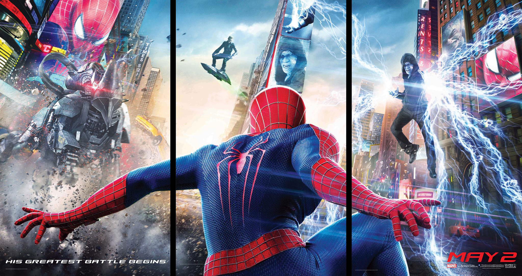 The-Amazing-Spider-Man-2-Triptych-Banner