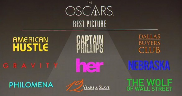 2014 Oscars Best Picture Nominations