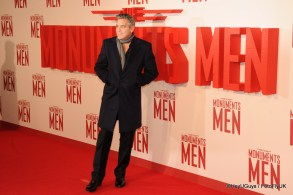 George Clooney at the Premiere for The Monuments Men in London