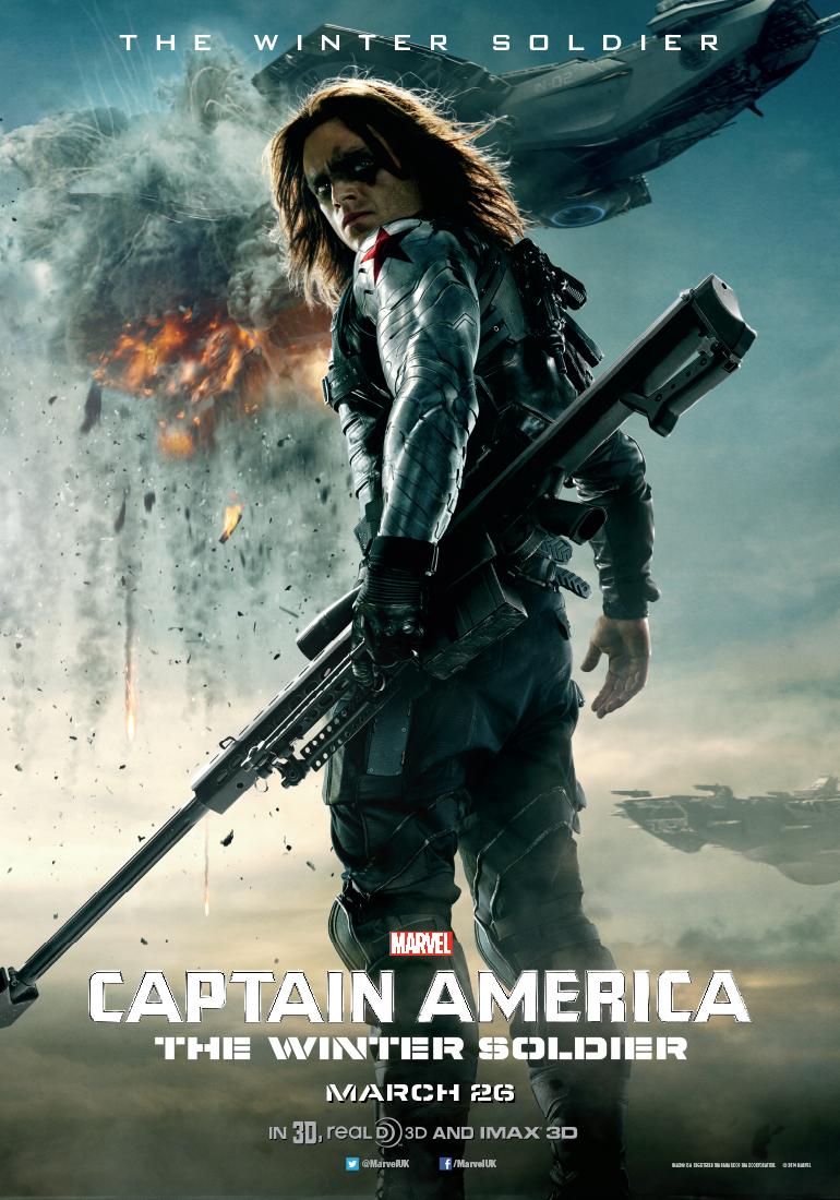 Bucky Barnes Captain America Poster