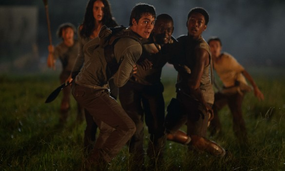 Kaya-Scodelario-Dylan-OBrien-and-Aml-Ameen-in-The-Maze-Runner