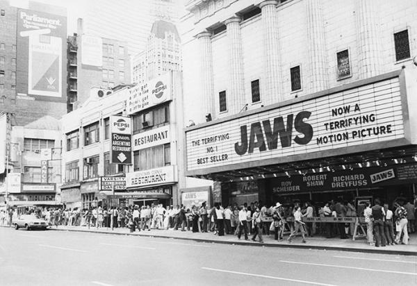jaws 1975 cinema