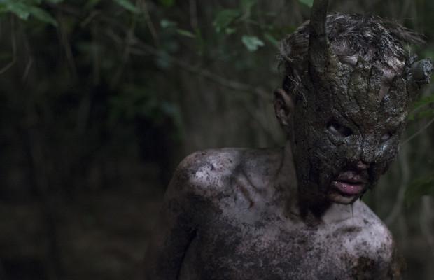 Gill Eeckelaert is Kai the feral boy, helper of the Poacher in Welp/CUB (Jonas Govaerts/Potemkino 2014).