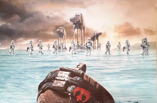 the new poster for rogue one a star wars story goes full metal
