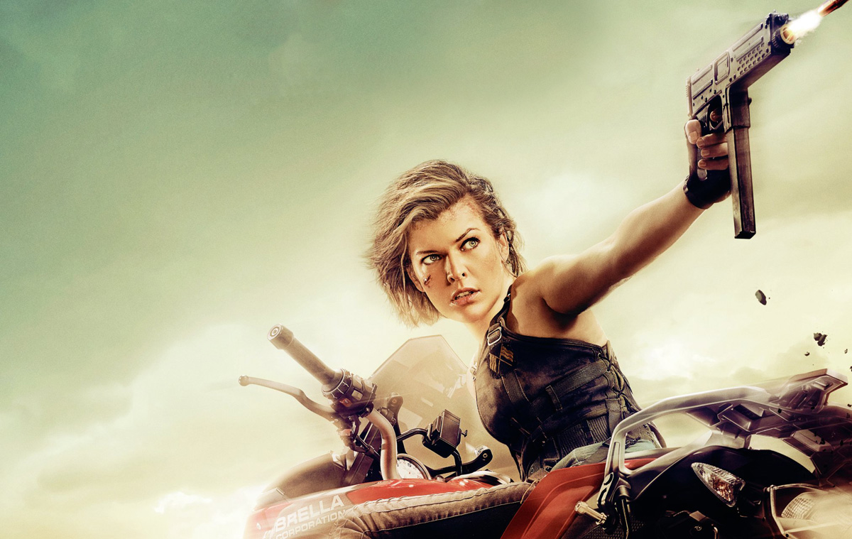 Milla Jovovich Gets On Her Bike For The Latest Poster For Resident Evil