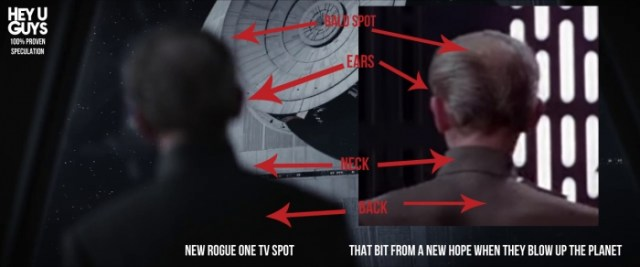 a picture proving Tarkin in is Rogue One