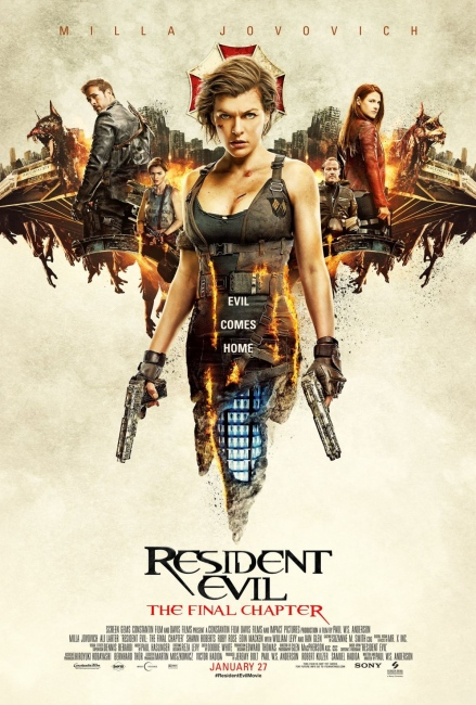 Resident Evil The Final Chapter Movie Poster