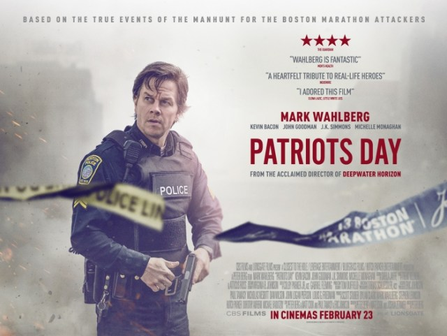 UK Movie Posters for Mark Wahlberg's Patriots Day