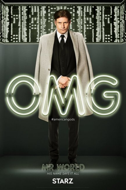 American Gods Character Poster - Mr World Crispin Glover