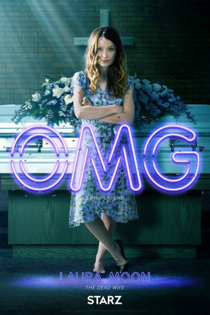 American Gods Character Poster - Laura Moon Emily Browning