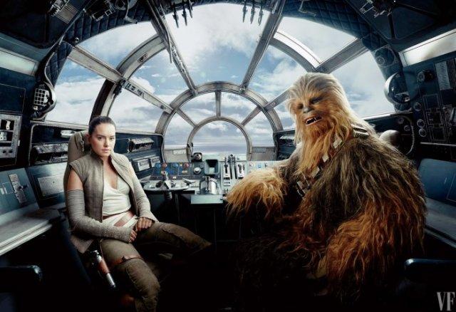 Star Wars The Last Jedi rey chewie