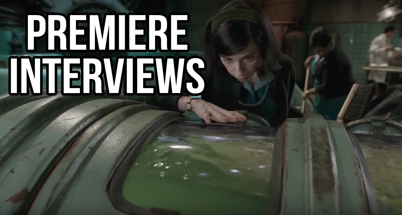 the shape of water premiere interviews