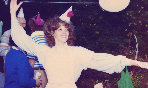 Gilda Radner at a party. Courtesy of the Estate of Gilda Radner.