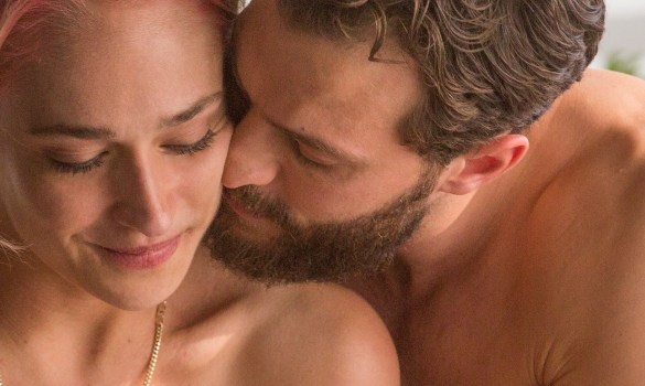 Andrea (Jemima Kirke) and Nick (Jamie Dornan) get closer in UNTOGETHER. Photo by Autumn Durald.