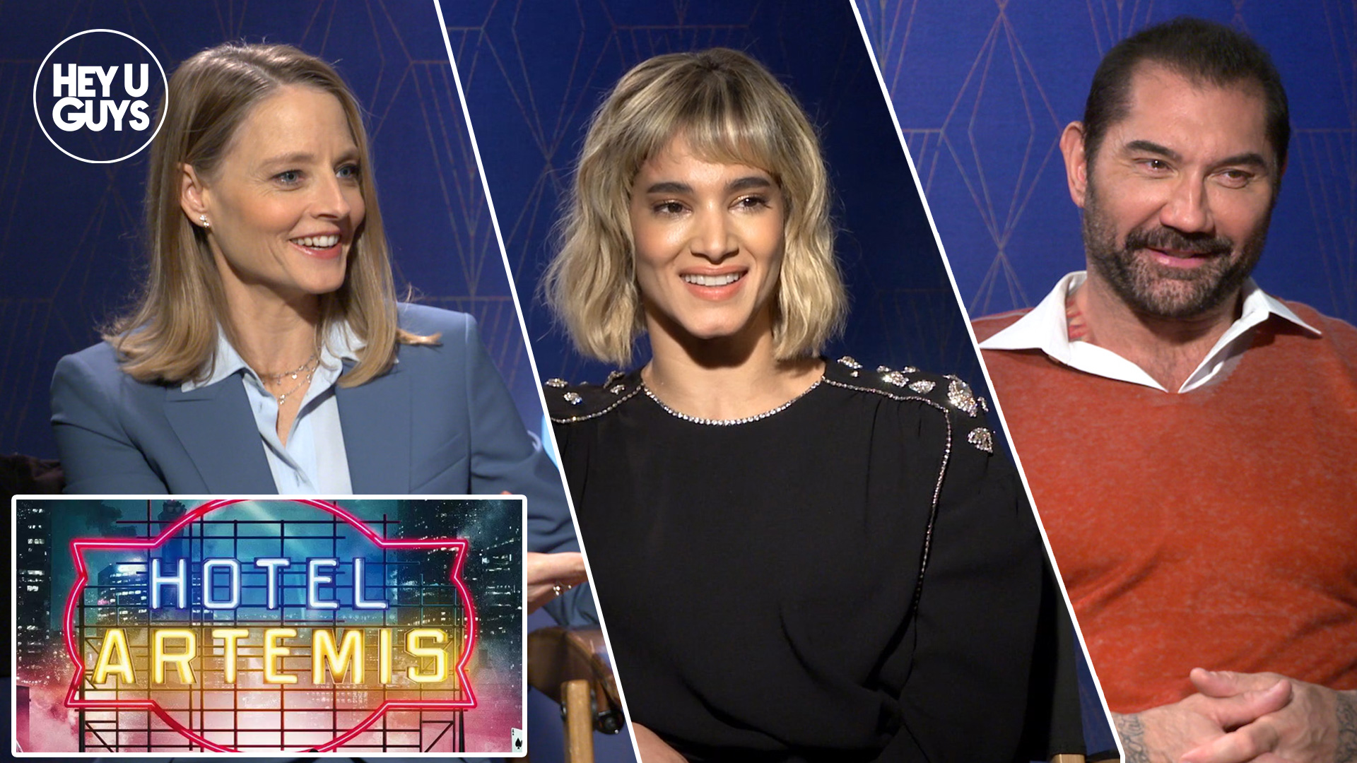Exclusive Jodie Foster Sofia Boutella Dave Bautista On The Darkness At Heart Of Hotel Artemis