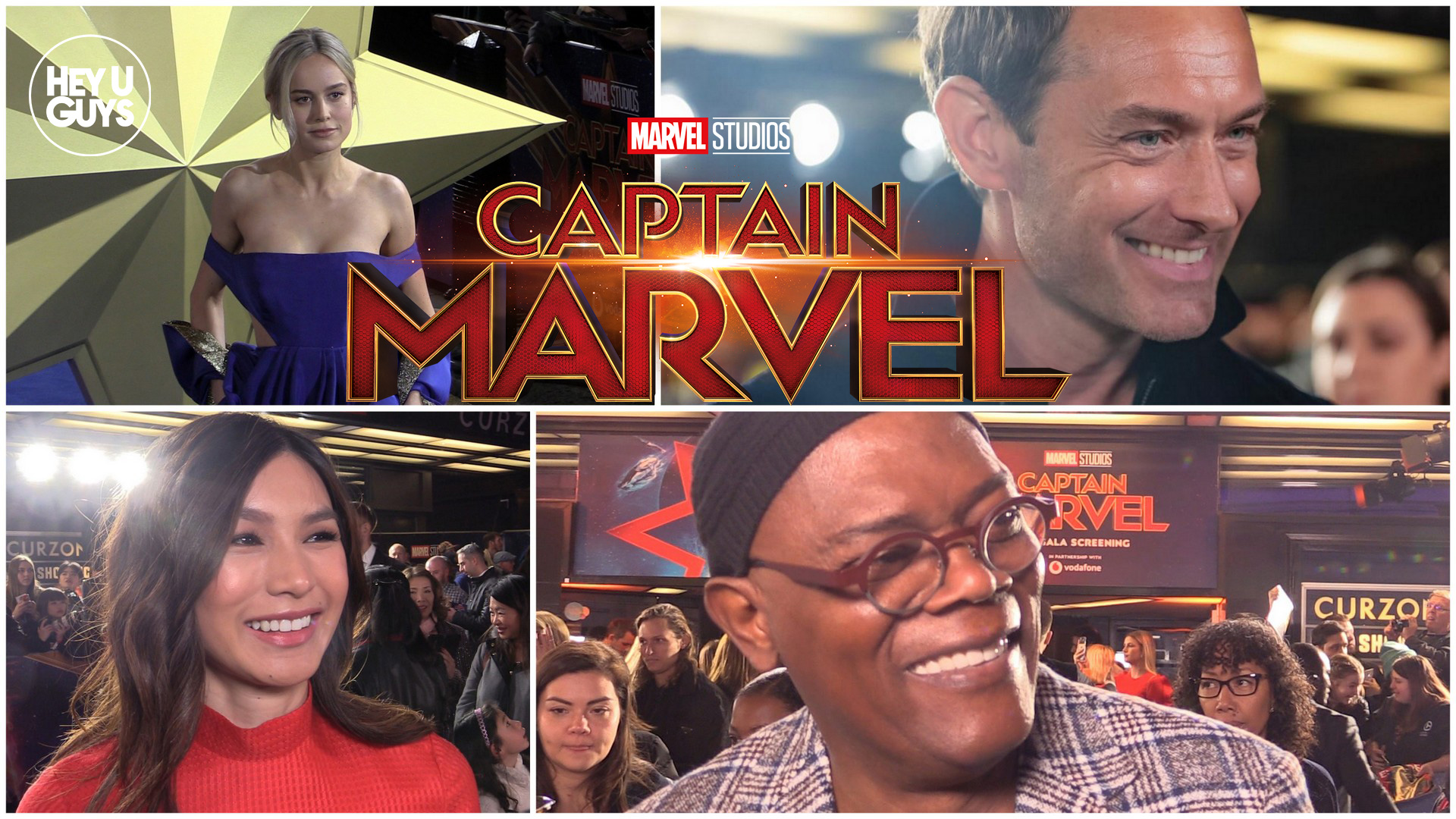 Brie Larson Wears Custom Valentino at Captain Marvel Premiere