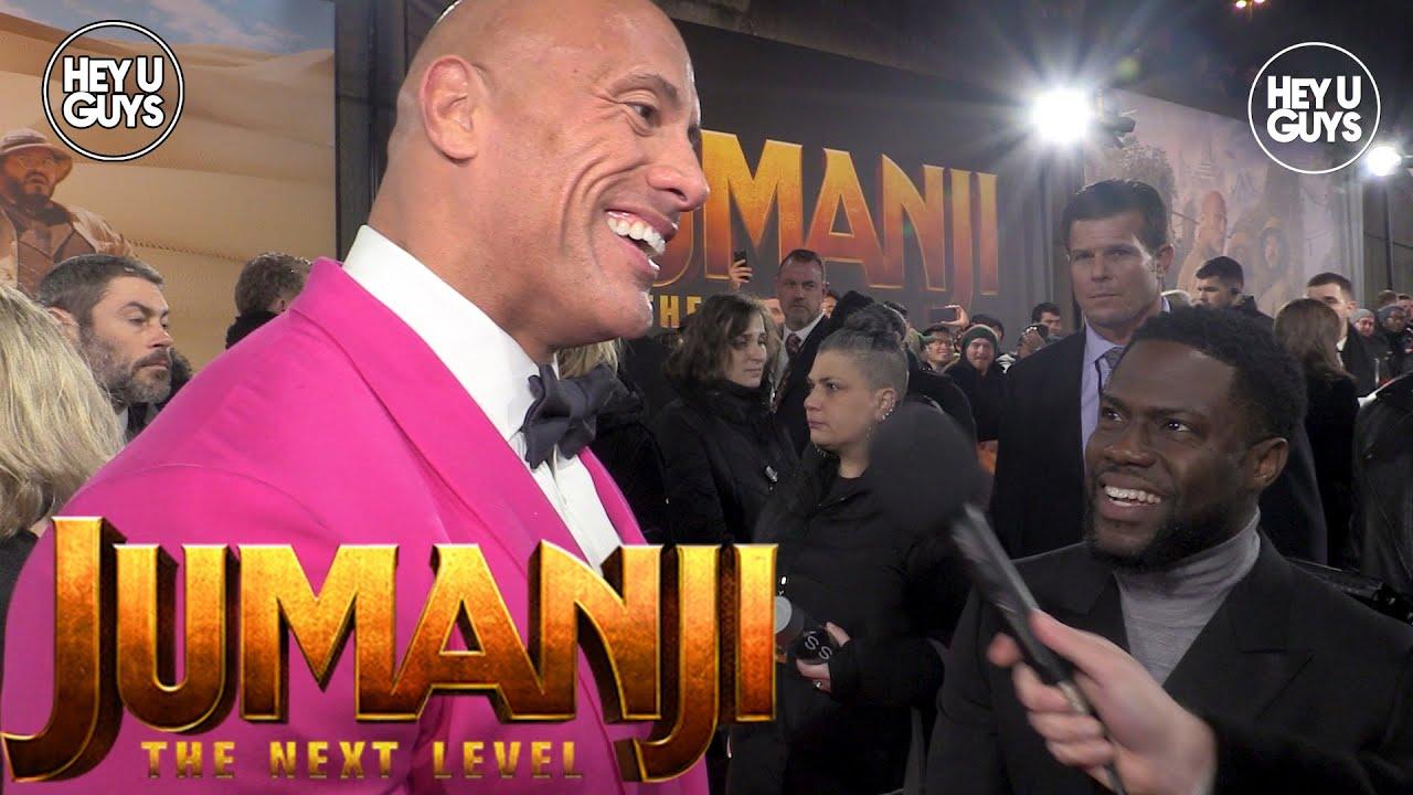 Jumanji The Next Level Premiere Interviews Dwayne Johnson