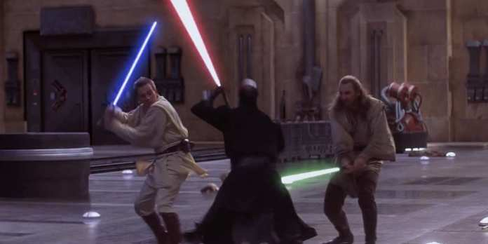 Star Wars The Phantom Menace Obi Wan Kenobi Darth Maul Qui Gon Jinn
