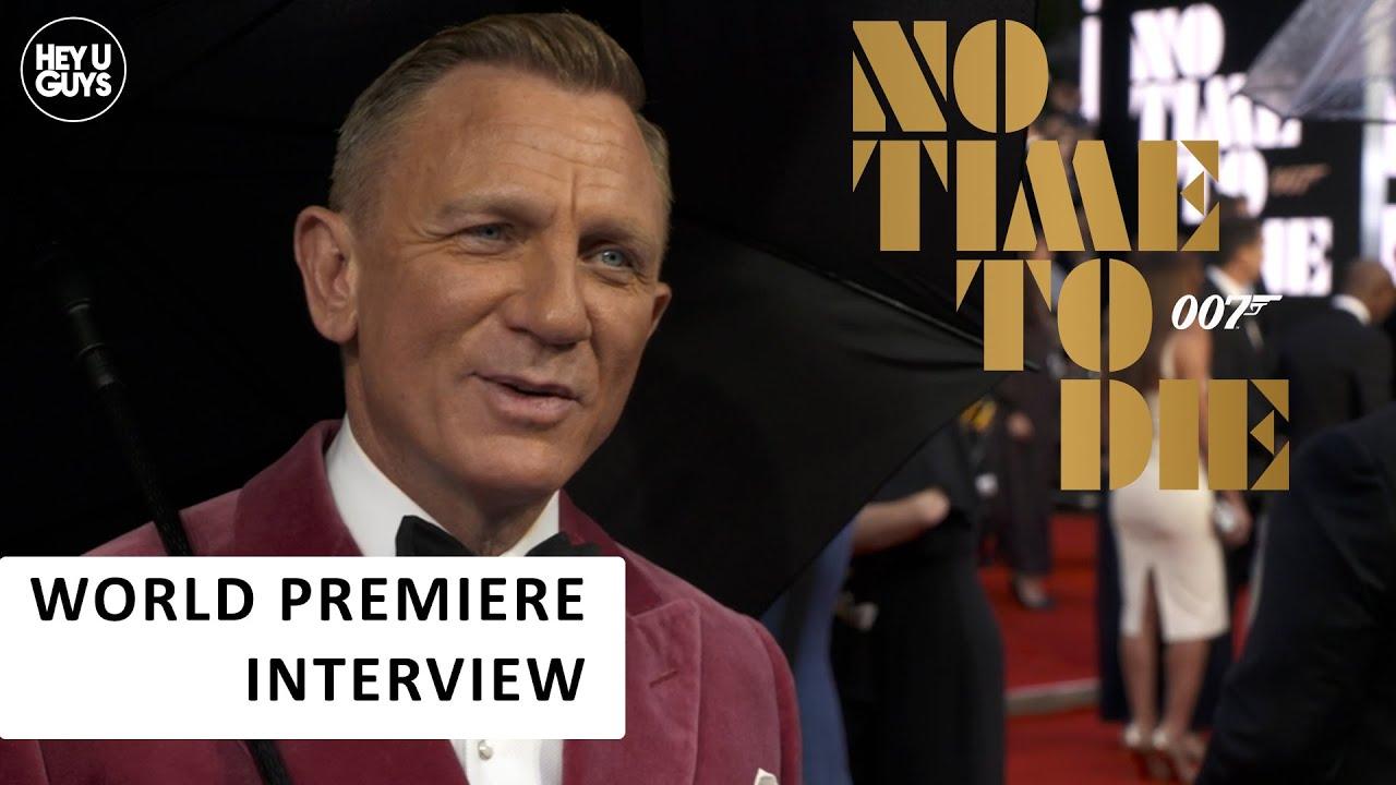 no time to die world premiere interviews