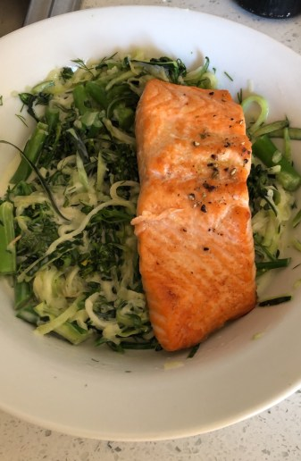 Salmon with Coconut Cream Dill Sauce