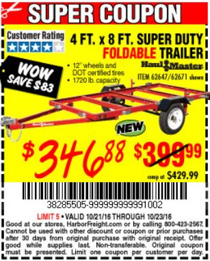Harbor Freight Trailer Coupon