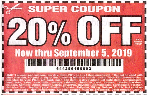 Current Harbor Freight 20 Coupon | WoodWorking