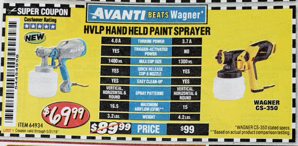 Harbor Freight Paint Sprayer Coupon
