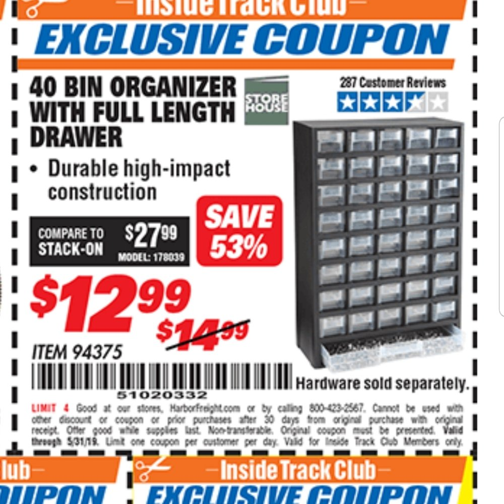 Harbor Freight Inside Track Club Coupons January 2019