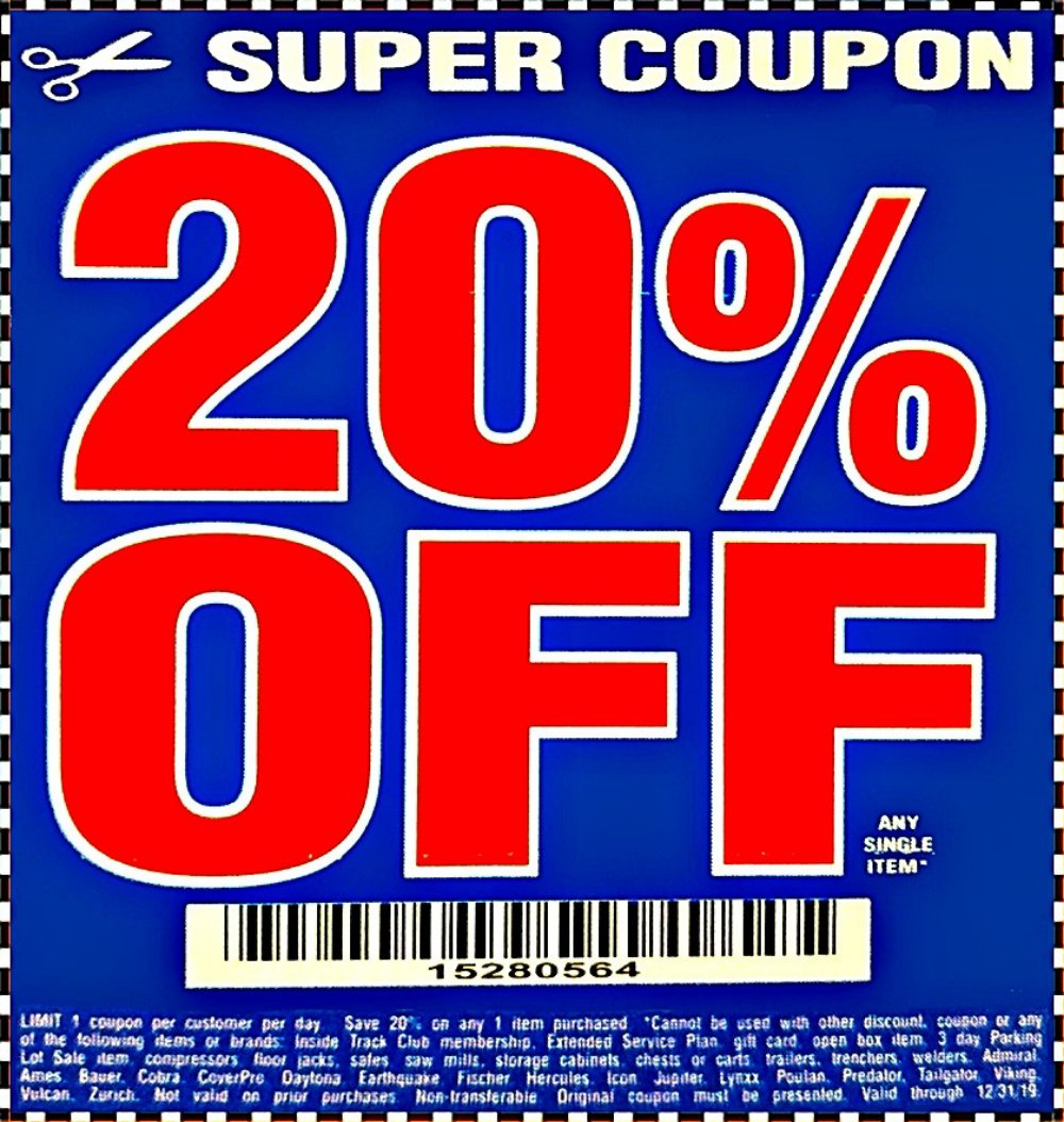 Harbor Freight Sawmill Coupon