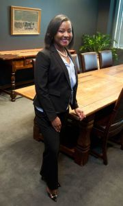 Stephanie Curette standing in office