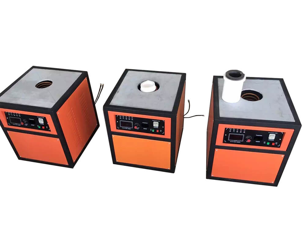 Small Capacity Gold Silver Platinum Induction Melting Furnace