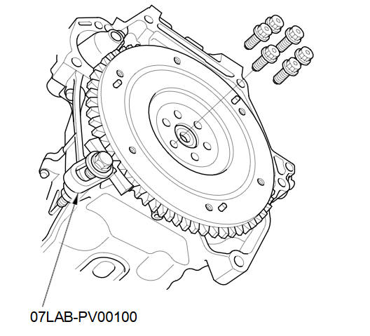 Flywheel Replacement :: Clutch Replacement (M/T) :: Manual