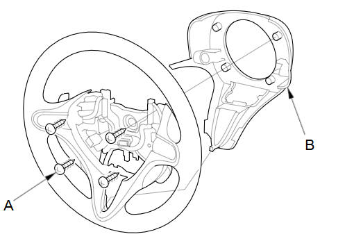 Paddle Shifter (Downshift Switch) Replacement (A/T