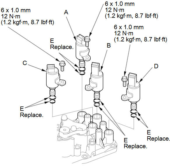 2001 Honda Accord Transmission Shift Solenoid. Honda