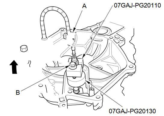 Mainshaft Thrust Clearance Adjustment (M/T) :: Manual