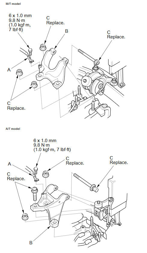 Transmission Mount Bracket Replacement :: Transmission