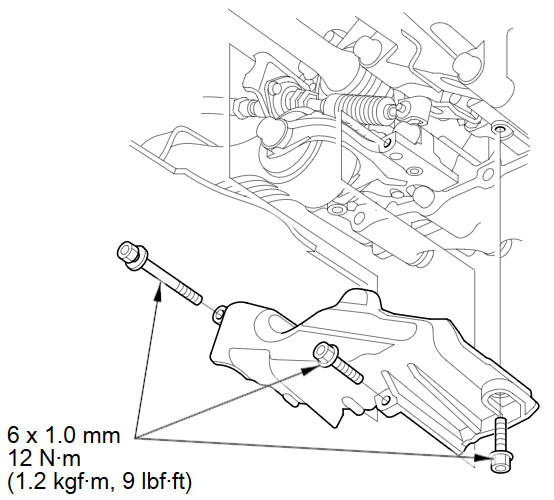 Engine Assembly Torque Rod Bracket Replacement :: Engine