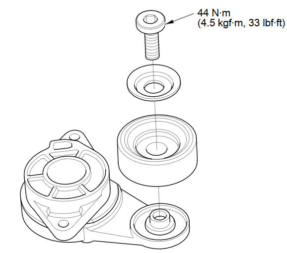 Drive Belt Auto-Tensioner Pulley Replacement :: Pulleys