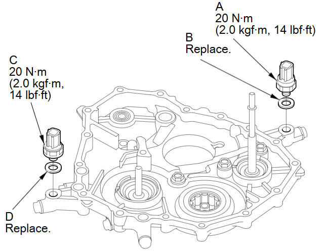 Transmission End Cover Transmission Fluid Pressure Switch