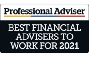 Professional Adviser - Best Financial Advisers to work for 2021 badge