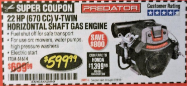 Coupon Harbor Freight Gas Engine - Year of Clean Water