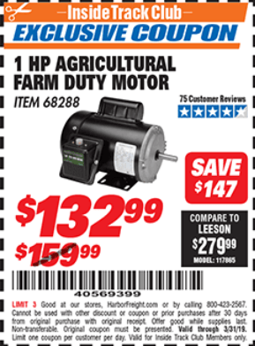 Harbor Freight Electric Motor Coupon