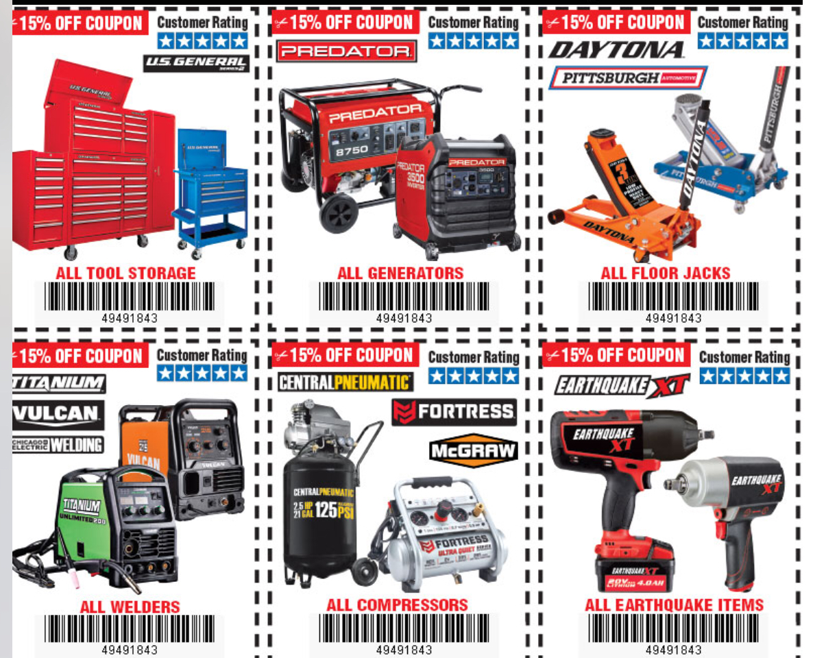 Harbor Freight Compressor Coupon 2019