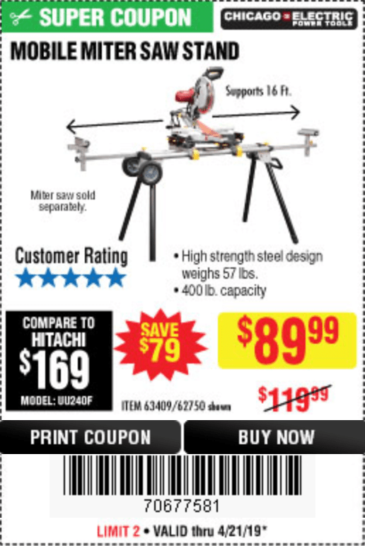 Harbor Freight Roller Stand Coupon
