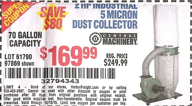 Harbor Freight Dust Collector Coupon